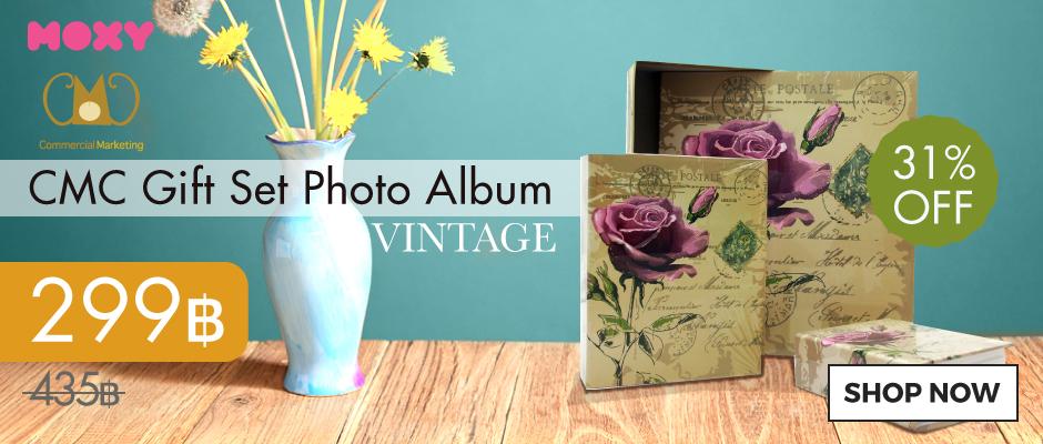 ชุด Giftset อัลบั้มรูปแบบสอด 3 ขนาด ลายวินเทจ