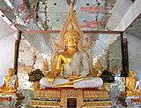 พระพุทธรูปประดับเพชรและหุ่นพระเกจิ