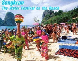 Songkran The Water Festival on the Beach