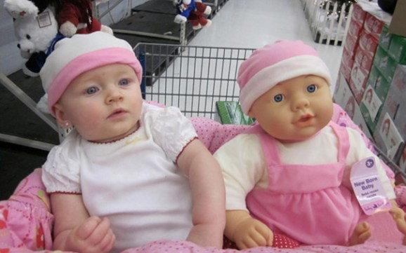 เบบี๋ ตุ๊กตาตัวโปรด หน้าเหมือนกันอย่างกับแกะ