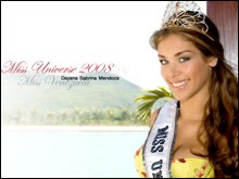 Wallpaper Miss Universe 2008