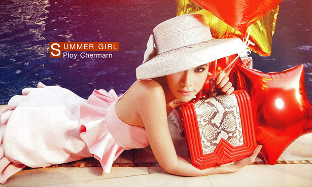 Ploy Chermarn Wallpaper : Summer Girl
